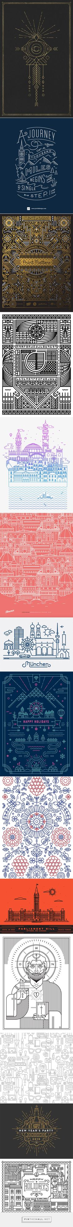 Showcase of Stylish Single Weight Line Art Illustrations - created via http://pinthemall.net