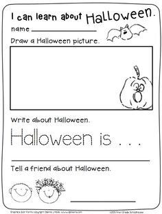 Halloween Writing for Kinders. $ Fun kindergarten writing activities with a Halloween theme.