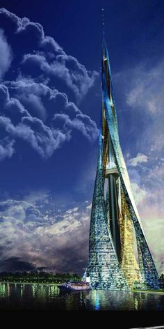 Another Skyscraper in Dubai, another architectural wonder. However Dubai City Tower is just a proposal, for now. Architecture Unique, Futuristic Architecture, House Architecture, Retro Futuristic, Landscape Architecture, Dubai City, Dubai Tower, Dubai Uae, Visit Dubai