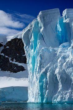 Antarctica floating iceberg