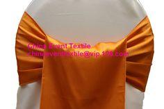 150pcs #134 Burnt Orange Wedding Satin Chair Sash,Satin Sash for Weddings Events &Banquet &Party Decoration