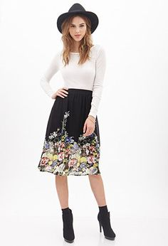 Floral Chiffon Skirt   FOREVER 21 - 2000129839