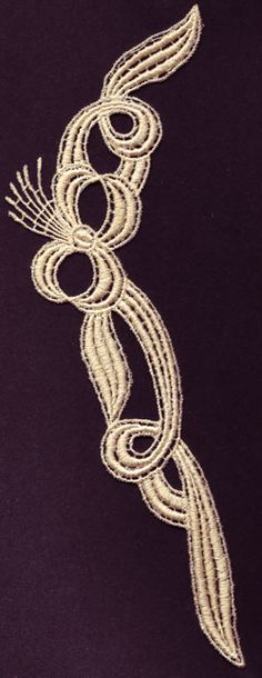 Ribbon Swirls Free Standing Lace FSL Machine Embroidery Design