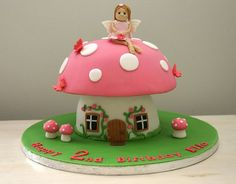 Pixie House Cake | Toadstool Fairy cake by Creative Cakes by Charlotte Parmigiani, via ...