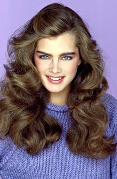 hair Brooke Shields with her perfect bushy brows.I had them too and now sadly, I hardly have any brows from overplucking! Big Hair, Your Hair, Hair Inspo, Hair Inspiration, Brooke Shields Young, 1970s Hairstyles, Hairstyles Haircuts, 80s Haircuts, Amazing Hairstyles
