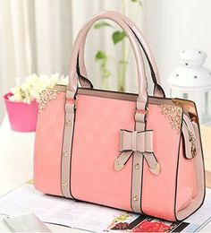 Fashion Elegant Polish Bow Lace Handbag