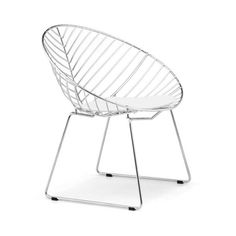 Cupped Leaf Dining Seat in Chrome   dotandbo.com