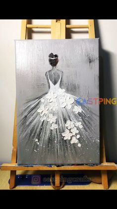 Cute Canvas Paintings, Canvas Painting Tutorials, Small Canvas Art, Mini Canvas Art, Acrylic Painting Canvas, Easy Canvas Art, Dance Paintings, Amazing Paintings, Pour Painting