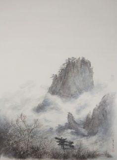 Artist: Zeng Xiaojun Title: Yellow Mountain No. 3 Date: 2014 Medium: Ink and Colour on Paper Size: 186 x 133 cm