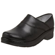 Klogs USA Women's Sonora Closed Back Clog,Black Smooth,9 W US