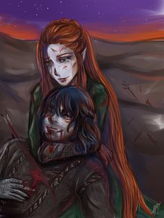 Some Kili and Tauriel time! Because it's almost one month left until Hobbit: The Battle of Five Armies Can't wait! More Kili&Tauril here: rinoa. I see fire Thranduil, Legolas, Silvan Elves, Kili And Tauriel, I See Fire, Bagginshield, O Hobbit, Fire Art, Perfect Couple