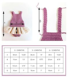 (4) Name: 'Crocheting : Crochet Baby Romper - Little Ballerina