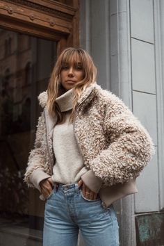 weekday shearling jacket lisa olsson