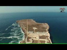 Vista aérea sobre o Forte de Sagres em 4K