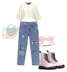 """""""Untitled #21"""" by dedic-elvira ❤ liked on Polyvore featuring Dr. Martens, Betsey Johnson and MantraBand"""