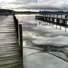 Wolfeboro Bay on Lake Winnipesaukee - from the Wolfeboro NH Town Docks. January 31, 2013