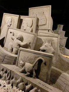 """""""Beleef de Gouden Eeuw"""" bij De Beeldentuin het Zandsculpturenfestijn 2014, Garderen"""