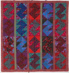 """""""Sea Horses"""" by Brandon Mably and Kaffe Fassett in Wales. Exhibit at the Jen Jones Welsh Quilt Centre, 9 March to 2 November, 2013"""