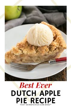 Dutch Apple Pie - Cinnamon spiced apples in a pastry shell with a streusel topping. An exquisite fall dessert that's much easier to make than a double-crust pie, plus the crumb topping is irresistible!!! #falldessert #applepie #Thanksgivingrecipe Apple Pie Recipes, Pastry Recipes, Baking Recipes, Dessert Recipes, Fall Desserts, Delicious Desserts, Buttermilk Cookies, Chicke Recipes, Dutch Apple