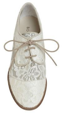 white lace oxfords