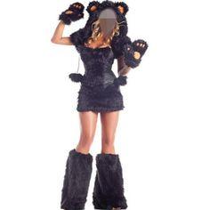 Halloween Animal Costume Adult bear costume cosplay sexy women black fur costume bear cute costume #Affiliate