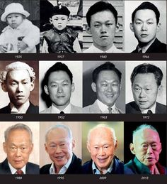 Repost : #SG Father of Singapore , MM Lee Kuan Yew over the years