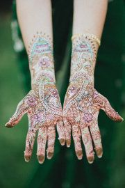 beautiful and colorful henna