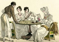 Historical and Regency Romance UK Georgette Heyer, Berkeley Square, Georgian Era, Georgian Food, Regency Era, Pride And Prejudice, Jane Austen, Historical Clothing, Fashion Plates