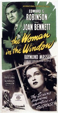 The Woman in the Window is a 1944 film noir directed by Fritz Lang that tells the story of psychology professor Richard Wanley (Edward G. Robinson) who meets and becomes enamored of a young femme fatale. Based on J. H. Wallis' novel Once Off Guard, the story features two surprise twists at the end. Director Fritz Lang substituted the film's dream ending in place of the originally scripted suicide ending, to conform with the moralistic Production Code of the time.