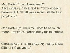 Love these, especially Cheshire cat