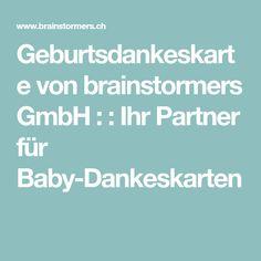 Geburtsdankeskarte von brainstormers GmbH : : Ihr Partner für Baby-Dankeskarten