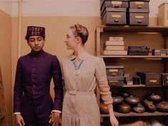 She's charming. She's so charming.  Is he flirting with you? - The Grand Budapest Hotel (2014)