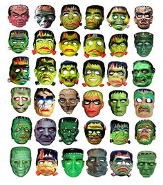 36 Frankenstein Type Monster Masks 013331 by Brechtbug, via Flickr