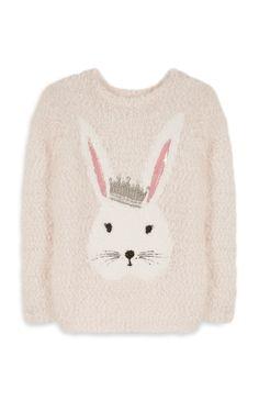 Primark - Flauschiger Pullover mit Häschenmotiv