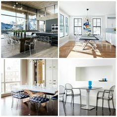 Transparente Stühle für einen modernen Speisesaal - http://schickmobel.com/transparente-stuhle-fur-einen-modernen-speisesaal/