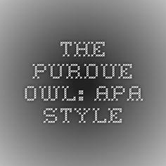 owl purdue apa style