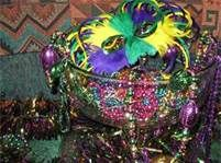 mardi gras ball entry decorations