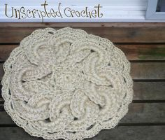 Crochet Twine : Indoor or Outdoor Crochet Sisal Twine Rug by unscriptedcrochet
