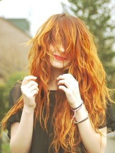 Have some fun and go a little crazy with your ginger hairstyle.