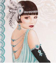 1920s Deco card