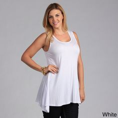 ~~pinned from site directly~~ . . . 24/7 Comfort Apparel Plus Size Sleeveless Tunic Tank