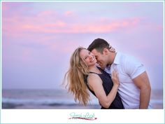 Virginia Beach Oceanfront Engagement Session, fishing pier, couple in love, engagement session, sunset, on the beach, sand and sun, Virginia Beach engagement photographer, Fresh Look Photography