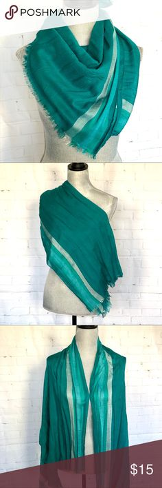 Turquoise Light Stripe Scarf NWOT New rectangle scarf can be worn a variety of ways. Accessories Scarves & Wraps