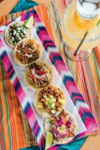 To share, or not... A platter of tacos, from pork shoulder to beef tongue. | Don Lencho in Manassas