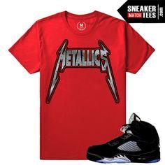Jordan 5 Black metallic Matching t shirt. Jordan Release Date 2016. Shop T shirts to match Black Metallic 5s sneaker color way. Sneaker Match Tees