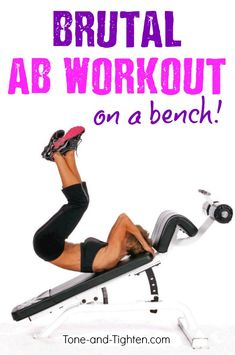 Roast your upper, middle, and lower abs with this awesome bench workout!
