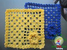 Motivos cuadrados en crochet 'Tapetitos con esquema'   Manualidades