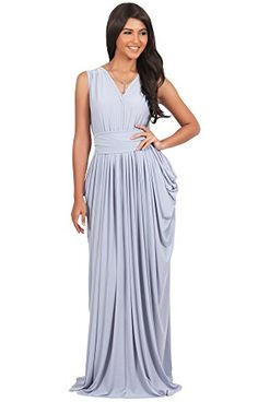 Bridesmaid Dresses - Koh Koh Womens Sleeveless Bridesmaid Elegant Long Prom Gown Maxi Dress -- Check out this great product.