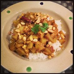 masaman curry - add chicken/chickpeas instead of tofu