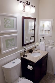 Small bathroom idea for carving out space on the main floor.
